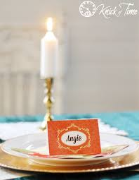 Table Setting Cards - thanksgiving printable place cards knick of time