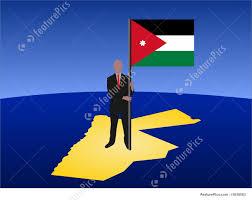 Flag Jordan Man On Map Of Jordan With Flag Stock Illustration I1650563 At