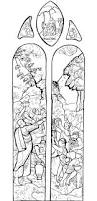 medieval vitrail stained glass coloring pages for adults