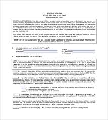 Template Wills by Sle Living Will 8 Documents In Pdf
