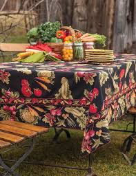 autumn harvest table linens april cornell autumn harvest tablecloth fall vegetable tablecloth