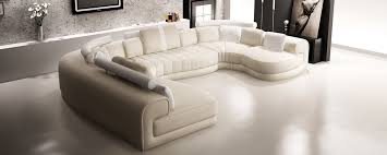Modern White Bonded Leather Sectional Sofa Divani Casa 6129 Modern Cream And White Bonded Leather Sectional