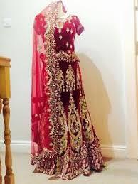 asian wedding dresses beautiful velvet indian asian wedding dress ebay