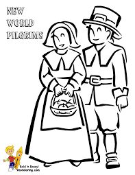 thanksgiving coloring pages pilgrims praying coloring home