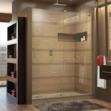 Shower Doors Dreamline Mirage X 56 In To 60 In X 72 In Semi Framed Sliding