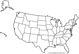 usa map black and white outline maps of usa map of the united