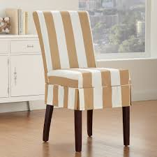 shorty taupe slipcover dining chairs with tie back comfortable