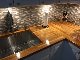 countertops gray mosaic tile backsplash butcher block countertops gray mosaic tile backsplash butcher block countertops white cabinets