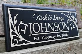 wedding gift signs wedding signs last name gift for newlyweds wedding gifts