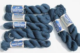 blue vintage bucilla tapestry wool yarn for needlepoint