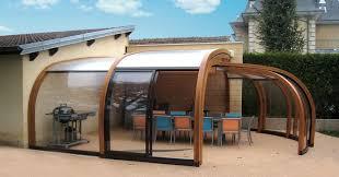 tettoia in legno per terrazzo l addossata abri terrasse abrisud fabricant abri de terrasse