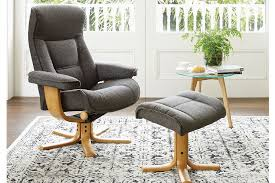 transforming a reclining office chair with footrest in regular