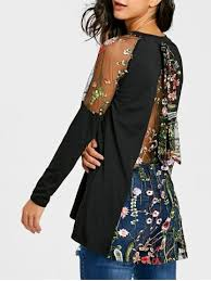 blouse for colormix l stylish scoop neck batwing sleeve printed fitting
