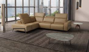 ocean italian leather sectional sofa in miele free shipping