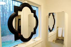 How To Hang A Bathroom Mirror by Hanging A Sink Mirror In Front Of A Window Young House Love