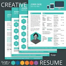 Best Resume Template For Experienced It Professional by Enchanting Creative Resume Template Cv Cover Letter 1 2 3 Page