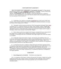 39 ready to use non compete agreement templates u2013 free template