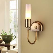 Metal Wall Sconces Rustic Single Light Metal Wall Sconce With Glass Chimney Shade
