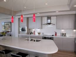 Kitchen Light Shades by Splendid Pendant Lighting Over Kitchen Island With Red Glass