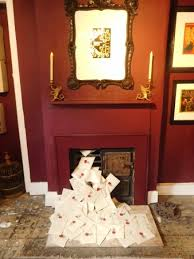 hogwarts letters and fireplace picture of house of minalima