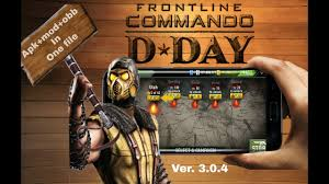 game android offline versi mod frontline commando d day 3 0 4 mod apk obb offline in android