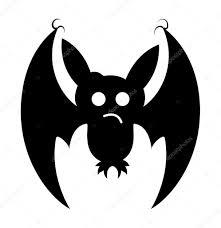 spooky halloween bat shape u2014 stock vector baavli 62764851