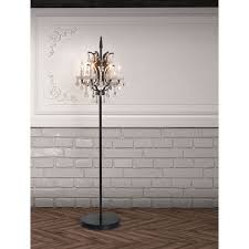 Chandelier Standing Lamp by Phoenix Distressed Black Floor Lamp By Zuo Phoenix Metals And