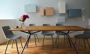 designer esstisch elegantes design massivholz esstisch massivholz design