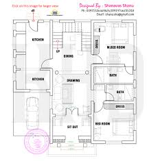 Kerala Home Plan Single Floor Floor Plan Of Modern Single Floor Home Kerala Home Design And