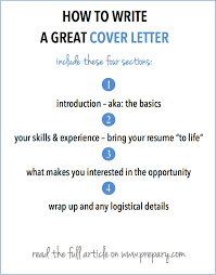 Resume And Application Letter Sample by How To Write A Cover Letter The Prepary The Prepary