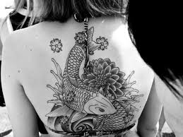 Black And Grey Koi Carp - 116 fish koi tattoos images with meaning