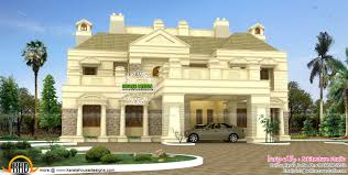 luxurious colonial house kerala home design and floor plans