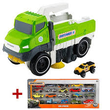 minecraft dump truck matchbox sweep n keep truck 20 car pack gift set frv82 mattel