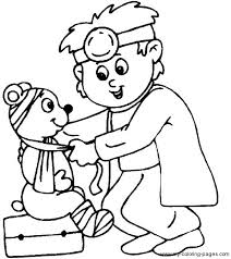 boy playing doctor colouring pages kids crafts colouring pages