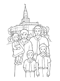 family at the temple for kids lds primary pinterest temple