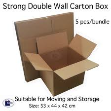 Chair Boxes Moving Qoo10 Carton Box For Moving And Storage 5 Cartons Double Wall