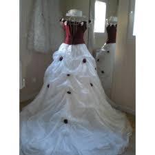 robes de mari e bordeaux robe de mariée blanche et bordeaux roses sur bustier traine t36