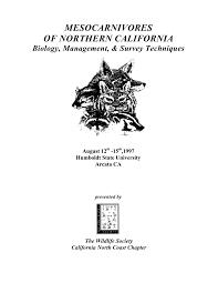 monitoring mesocarnivore population status pdf download available