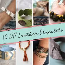 leather bracelet craft images 10 easy tutorials to craft diy leather bracelets sizzix blog png