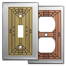 craftsman style light switches craftsman switch plate covers in stainless steel kyle design
