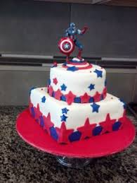 cake captain american mis pasteles pinterest cakes and