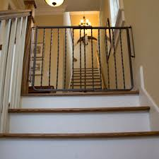 Safety Gates For Stairs With Banisters Wrought Iron Decor Gate Baby Gates Safety Gate Cardinal Gates