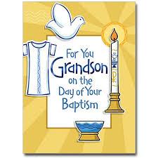 for you grandson baptism grandson baptism card