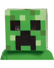 Minecraft Costume Minecraft Creeper Vacuform Mask By Disguise Ebay