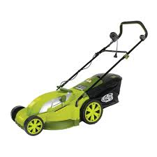 sun joe mow joe 17 in 13 amp corded electric push mower mj403e