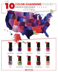 top 10 color changing nail polishes del sol