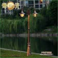 solar outdoor light post lighting solar powered outdoor lamp post