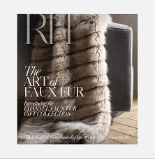 restoration hardware gift restoration hardware introducing the channel faux fur gift