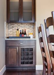 dry bar and wine storage in custom designbuild residence in