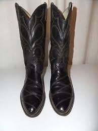 s quarter boots vintage acme black leather cowhide quarter cowboy boots